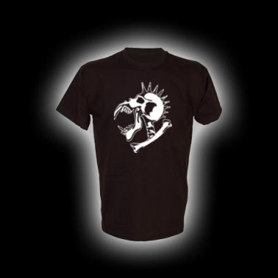 Alien Skull - T-Shirt mit Rundhalsausschnitt