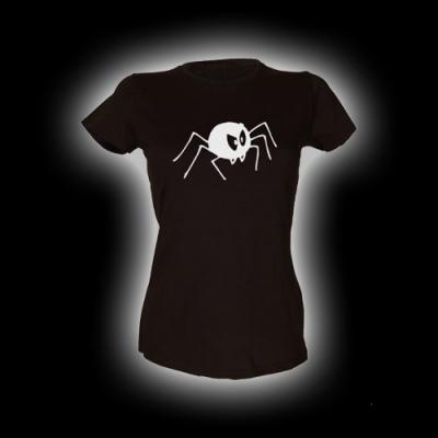 Bad Spider - Damen Girlie-Shirt mit Rundhalsausschnitt