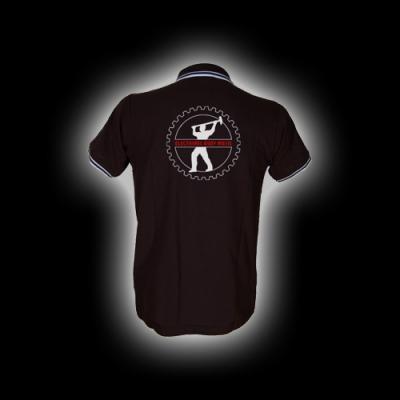 EBM 4 - Man mit Hammer - Polo-Shirt mit Kontraststreifen