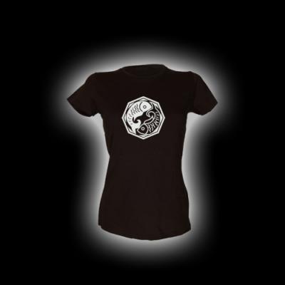 Fische - Damen Girlie-Shirt mit Rundhalsausschnitt