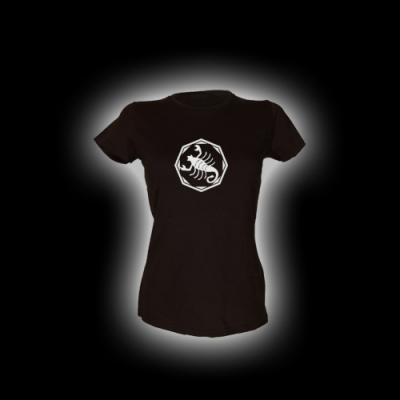 Skorpion - Damen Girlie-Shirt mit Rundhalsausschnitt