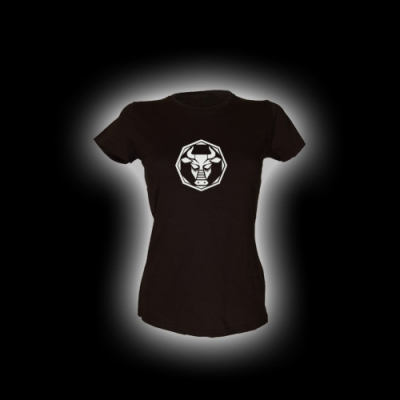 Stier - Damen Girlie-Shirt mit Rundhalsausschnitt