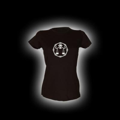 Waage - Damen Girlie-Shirt mit Rundhalsausschnitt