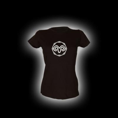 Widder - Damen Girlie-Shirt mit Rundhalsausschnitt