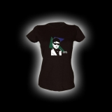 80s NEW WAVE BOY 1 - Damen Girlie-Shirt mit Rundhalsausschnitt