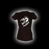 Alien Skull - Damen Girlie-Shirt mit Rundhalsausschnitt