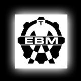 EBM 2 Keyboarder - Aufkleber für glatte Oberflächen