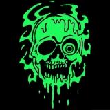 Flow Skull - T-Shirt mit Rundhalsausschnitt