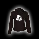 Ghost Skull - Damen - Kapuzenjacke mit Reißverschluss
