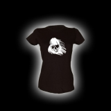 Ghost Skull - Damen Girlie-Shirt mit Rundhalsausschnitt