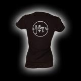 Symbol Zagan - Damen Girlie-Shirt mit Rundhalsausschnitt