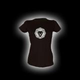 Löwe - Damen Girlie-Shirt mit Rundhalsausschnitt