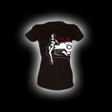 PinUp Girl - Damen Girlie-Shirt mit Rundhalsausschnitt