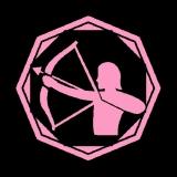 Schütze - Damen Girlie-Shirt mit Rundhalsausschnitt