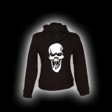 Scream Skull - Damen - Kapuzenjacke mit Reißverschluss