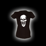 Scream Skull - Damen Girlie-Shirt mit Rundhalsausschnitt