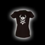 Wikinger Skull - Damen Girlie-Shirt mit Rundhalsausschnitt