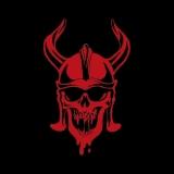 Wikinger Skull - T-Shirt mit Rundhalsausschnitt