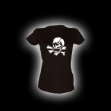 X Skull - Damen Girlie-Shirt mit Rundhalsausschnitt